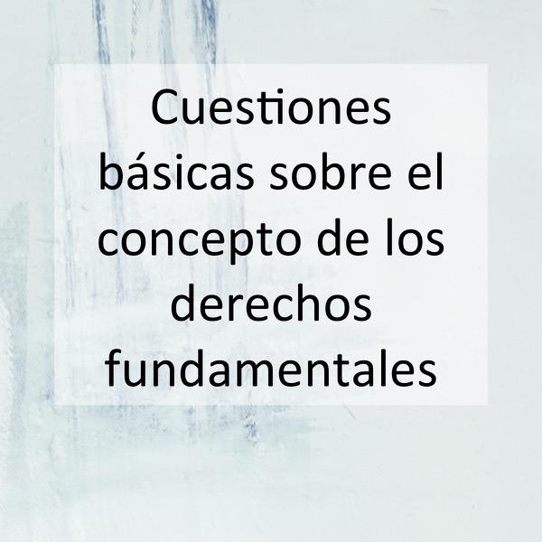 Cuestiones básicas sobre el concepto de los derechos fundamentales